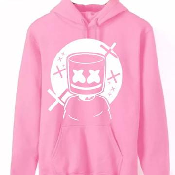 d6528bf3ab Blusa de frio moletom Dj Marshmello Rosa lindo - Promoção!