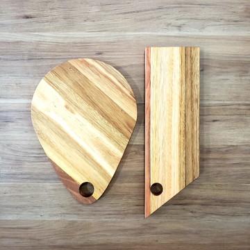 Kit tábua de madeira - Kit Tábua de Corte - Kit Tábua de Ser
