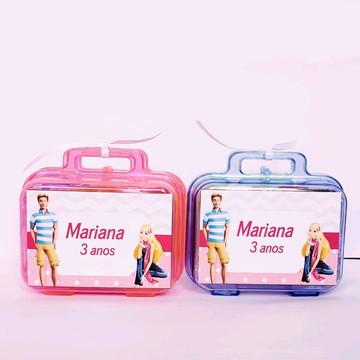 kit maletinha com massinha de modelar barbie