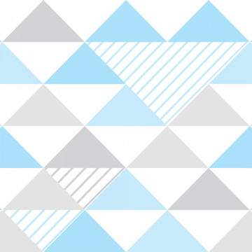 Papel de Parede para Quarto de Menino Azul Branco e Cinza
