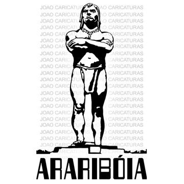 Desenho digital da escultura Araribóia