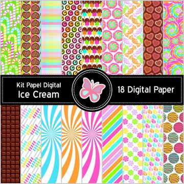Kit Papel Digital Sorveteria