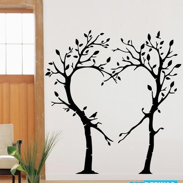 3c4a7ce9d Adesivo Decorativo Árvore Entrelaçadas em Coração