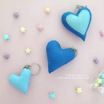 Kit Chaveiros de Coração em Feltro