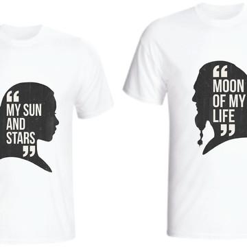 Camiseta Khal Drogo E Daenerys Targaryen - Kit C/02
