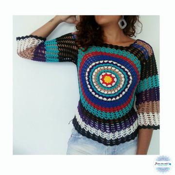 Blusa Croche Mandala