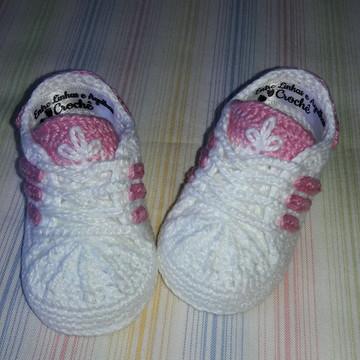 459df9f1a81 Tênis Adidas de Crochê