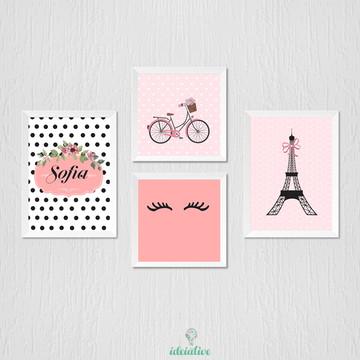 Quadrinho Infantil Bicicleta Paris Cílios