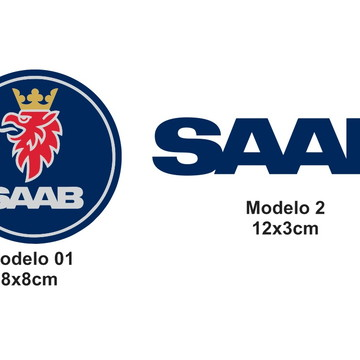Adesivo Saab Logo Carros Scania Embraer Aviões Aviação