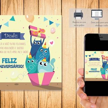 Cartão Digital Feliz Aniversário 001