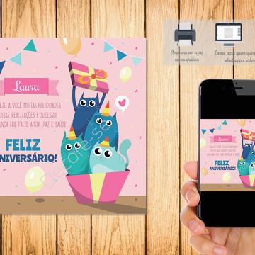 Cartão Digital Feliz Aniversário 002
