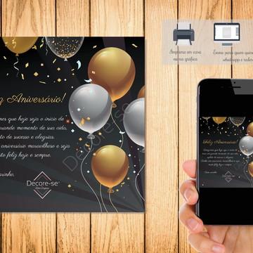 Cartão Digital Feliz Aniversário 003