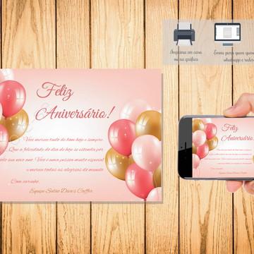 Cartão Digital Feliz Aniversário 004