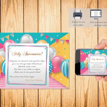 Cartão Digital Feliz Aniversário 005