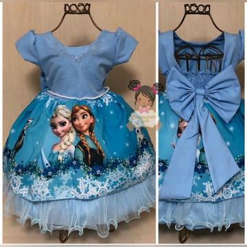 Vestido Frozen Luxo