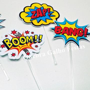 Topper doces Vingadores - Pct com 10