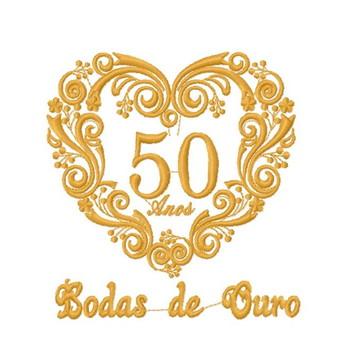 Bodas de Ouro (50 anos) -2 Matrizes para Bordar