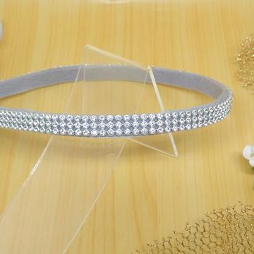 Tiara Headband strass prata