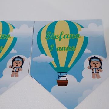 Varal Parabens tema Balões personalizado