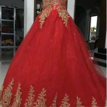 Vestido 15 Anos Debutante - Vermelho