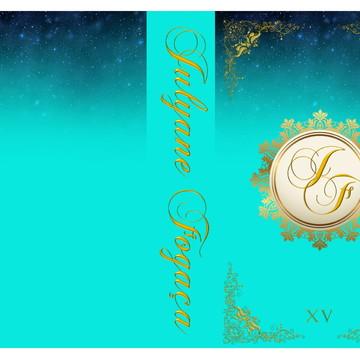 convite debutante azul tifany com dourado