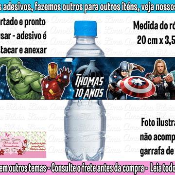 Rótulo adesivo para água Vingadores
