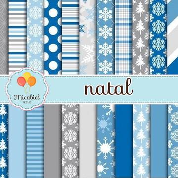 Papel Digital - Natal (azul)