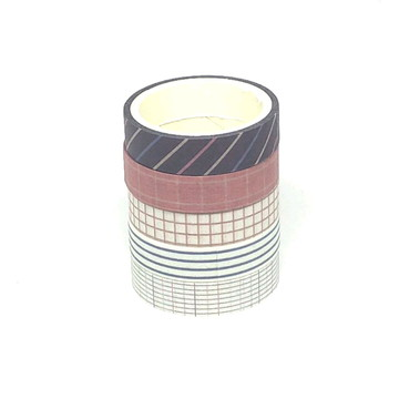 Kit Washi Tapes - Geométrica (5 Unidades)