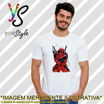 Camiseta Filme Marvel Deadpool Faca