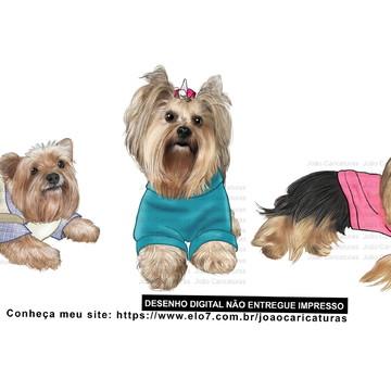 Desenho digital de cães-Preço por cão