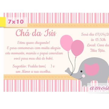 Convite Chá de Bebê Elefantinha