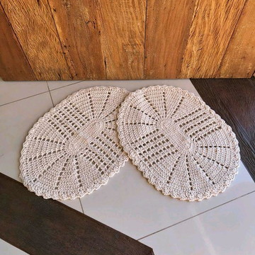 Tapete oval de crochê - (unidade)
