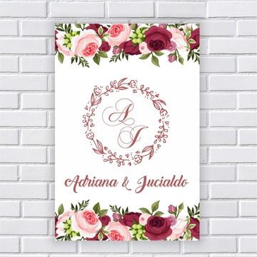Placa Personalizada Casamento (0017)