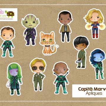 Apliques Capitã Marvel