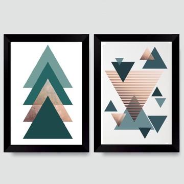 02 Quadros/Poster Geométrico Turquesa