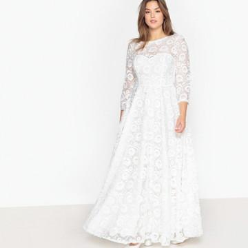 0f2e1766cb Vestido Noiva CV Couture Boho Plus Size Renda Italiana