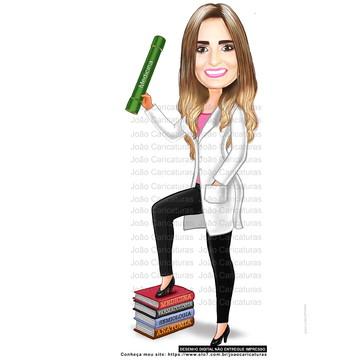 Caricaturas digital de formandos -Tema medicina