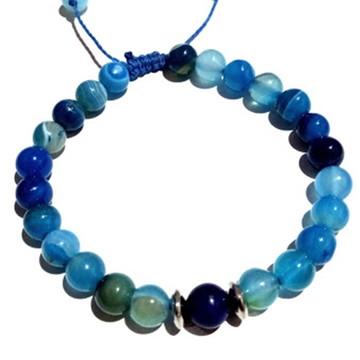 Pulseira Pedra Natural Jade Azul 8 MM