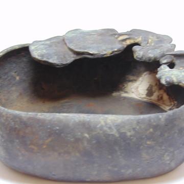 Cinzeiro De Bronze Gold Fish Antiguidade Chinesa