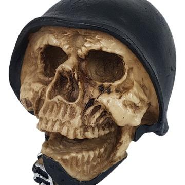 Crânio Capacete Soldado feito em Resina