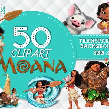 Kit Digital Moana PNG Fundo Transparente Alta Resolução