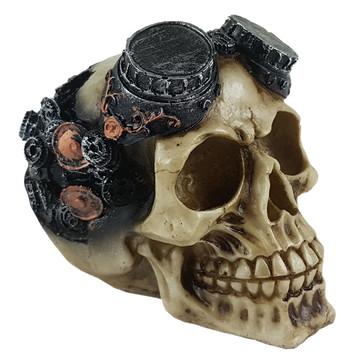 Crânio Engrenagens feito em Resina