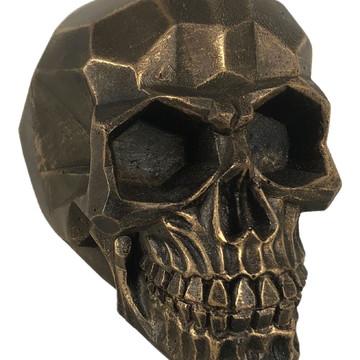 Crânio Geometrico feito em Resina
