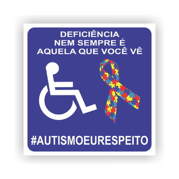 3x Adesivo Externo Autismo Autista 10x10cm a163
