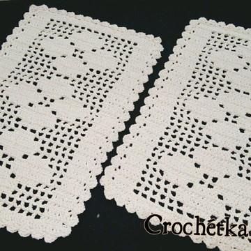 Tapete retangular de crochê - (unidade)