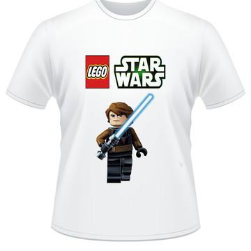 Camiseta infantil Lego star wars Anakin Skywalker