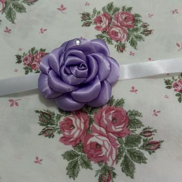 Corsage madrinha ou debutante cor lilás