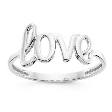 Anel Escrito Love Em Prata 950 Amor Presente Dia Namorados