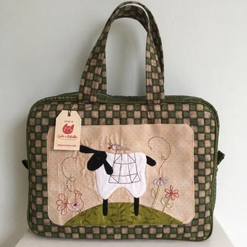 Bolsa de patchwork - maletinha ovelha country