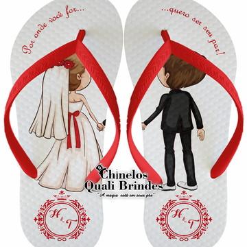 Chinelos Personalizados Casamento / Noivado / Bodas